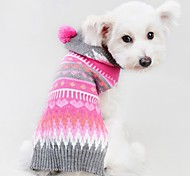 cheap -Cat Dog Coat Sweater Christmas Dog Clothes Stripe Rose Spandex Cotton/Linen Blend Costume For Pets Party Casual/Daily Cosplay Keep Warm