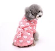 abordables -Chien Pull Vêtements pour Chien Points Polka Gris / Rouge / Rose Polyester Costume Pour les animaux domestiques Homme / Femme Décontracté