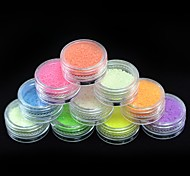 abordables -Polvo Suministros DIY Flash 3D Fosforescente Chicas y Mujeres Jóvenes Clásico Alta calidad Diario Nail Art Design