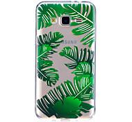 cheap -Case For Samsung Galaxy J7 V J5 Prime Case Cover Banana Leave Pattern High Penetration TPU Material Scratch Phone Case For Samsung Galaxy J3 J3 (2016)