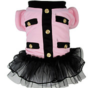 cheap -Dog Costume Dog Clothes Cosplay Princess Gray Pink Costume For Pets