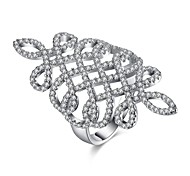 cheap -Women's Band Ring Crystal AAA Cubic Zirconia Personalized Luxury Geometric Bling Bling Fashion Crystal Zircon Cubic Zirconia Silver