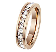 Fashion  Women's White Diamond Rings(As Picture)(1 Pc)