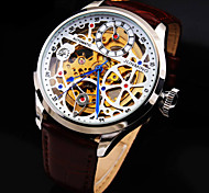 Men's New Diamond Dial Genuine Leather Strap Waterproof  Fashion Mechanical Watch (Assorted Colors) Cool Watch Unique Watch