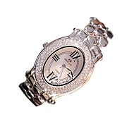 Mujer Reloj de Moda Reloj de Cristal Pavé Cuarzo Acero Inoxidable Banda Casual Plata