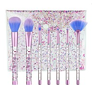 7pcs Makeup Brush Set Blush Brush Eyeshadow Brush Lip Brush Brow Brush Eyeliner Brush Eyelash Brush Sponge Applicator Foundation Brush