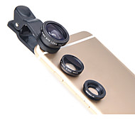 LIEQI LQ-011 Phone Lens Fish-Eye Lens Wide-Angle Lens Macro Lens Aluminum 10X Cell Phone Camera Lenses Kit for Samsung Android Smartphones iPhoned