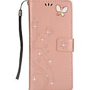 Hülle Für Samsung Galaxy Note 8 Geldbeutel Kreditkartenfächer Strass mit Halterung Flipbare Hülle Muster Magnetisch Handyhülle für das