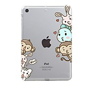 baratos -Capinha Para Apple iPad Mini 4 iPad Mini 3/2/1 iPad 4/3/2 iPad Air 2 iPad Air iPad (2017) Transparente Estampada Capa traseira