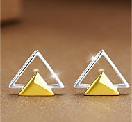 cheap -Women's Sterling Silver Stud Earrings - Personalized Fashion Triangle For Casual Office & Career