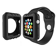 cheap -For Apple Watch 3 Series 1 Colorful Silicone Watch Case Cover 38mm 42mm