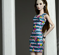 Недорогие -Платья Платья Для Кукла Барби Шелково-шерстяная ткань Платье Для Девичий игрушки куклы