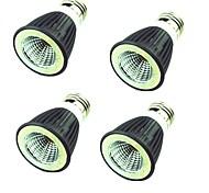 Недорогие -4шт 7W 550lm Точечное LED освещение MR16 1 Светодиодные бусины COB Декоративная Тёплый белый Холодный белый 220V
