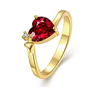 Women's Band Rings Cubic Zirconia Fashion Zircon Heart Jewelry For Party Daily