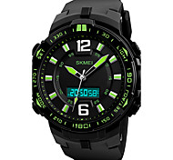 SKMEI Men's Sport Watch Military Watch Wrist watch Japanese Quartz LED Calendar Chronograph Water Resistant / Water Proof Three Time