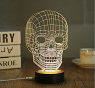 cheap -1 Set, Popular Home Acrylic 3D Night Light LED Table Lamp USB Mood Lamp Gifts, Skull