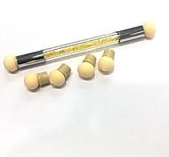 двойная сторона гвоздь кисть ногтей искусство diy инструмент аксессуар серебристый желтый макияж косметическая кисть для век