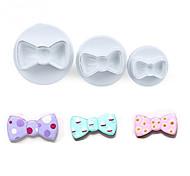 Недорогие -3pcs / set лук галстук формы печенье формы пластик белый сахар искусства набор fondant cookie