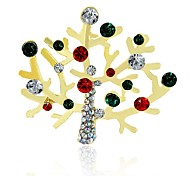 Недорогие -Муж. / Жен. Синтетический алмаз Стразы Броши - Классика / Рождество нерегулярный Разные цвета Брошь Назначение Рождество / Другое