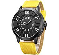 Homens Relógio de Moda Relógio Casual Chinês Quartzo Calendário Tecido Couro Legitimo Banda Elegantes Minimalista Legal Casual Preta