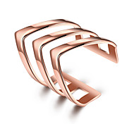 Women's Midi Rings Jewelry Cute Style Fashion Adjustable Personalized Titanium Steel Silver Plated Gold Plated Geometric Irregular Jewelry
