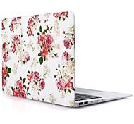 Недорогие -MacBook Кейс для MacBook Air, 13 дюймов MacBook Air, 11 дюймов MacBook Pro, 13 дюймов с дисплеем Retina Цветы Термопластик материал