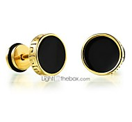 cheap -Men's Stud Earrings - Fashion Rock Round For Daily Casual