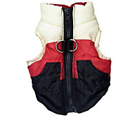 Dog Vest Dog Clothes Casual/Daily Color Block Red