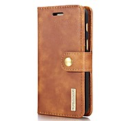 cheap -Case For Samsung Galaxy J7 (2017) J5 (2017) J3 (2017) Card Holder Wallet Flip Magnetic Full Body Cases Solid Color Hard Genuine Leather