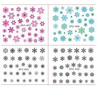 Недорогие -18 Стикер искусства ногтя Наклейка для переноса воды 3-D Рождество Новый год Компоненты для самостоятельного изготовления Стикер макияж