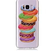 Кейс для Назначение SSamsung Galaxy S8 Plus S8 IMD Прозрачный С узором Задняя крышка Продукты питания Мягкий TPU для S8 S8 Plus S7 edge