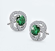 Women's Stud Earrings Crystal AAA Cubic Zirconia Fashion Luxury Crystal Cubic Zirconia Rose Jewelry For Gift Casual