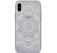 For iPhone X iPhone 8 Plus Case Cover Pattern Back Cover Case Mandala Lace Printing Soft TPU for Apple iPhone X iPhone 8 Plus iPhone 8