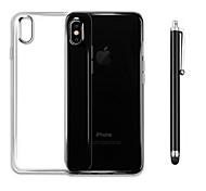 Недорогие -Назначение iPhone X iPhone 8 Чехлы панели Защита от удара Прозрачный Задняя крышка Кейс для Сплошной цвет Мягкий Термопластик для Apple