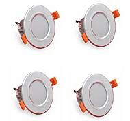 4pcs 5W 500LM LED Downlights Lamps 3000K/4000K/6500K LED Lamp for Home and Office AC85-265V