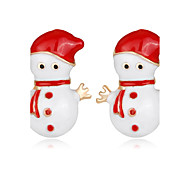 cheap -Women's Kid's Stud Earrings Fashion Chrismas Rhinestone Alloy Jewelry For New Year Christmas