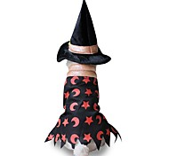 Cat Dog Costume Dog Clothes Party Cosplay Halloween Stars Black