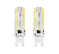 BRELONG DimmableG4 G9 BA15D 8W 152x3014SMD 3000-3500K/6000-6500K Warm White/White Light LED Corn Bulb AC110V/220V 2PCS