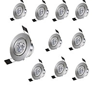 cheap -10pcs Mini 3W LED Ceiling Light Downlight 300LM Warm/Cool White Spotlight Lamp Recessed Lighting Fixture with LED Driver AC85-265V