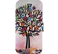 For iPhone X iPhone 8 Case Cover Card Holder with Stand Flip Pattern Full Body Case Butterfly Tree Hard PU Leather for Apple iPhone X
