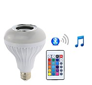 1 Piece 7W E27 LED Smart Bulbs PAR30 26 leds SMD 5050 Bluetooth Dimmable Remote-Controlled Decorative RGB+White 500lm 2200-6500K AC85-265