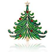 Hombre Mujer Broche La imitación de diamante Hipoalergénico Chrismas Legierung Árbol de la vida Joyas Para Fiesta de Noche Navidad