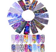 16 Стикер искусства ногтя Блеск С рисунком 3-D Компоненты для самостоятельного изготовления Комплектующие Аксессуары Стикер макияж