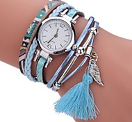 preiswerte -Damen Quartz Simulierter Diamant Uhr Armband-Uhr Chinesisch Imitation Diamant PU Band Charme Freizeit Böhmische Elegant Modisch Schwarz