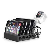 USB Charger 6 Ports Desk Charger Station Stand Dock US Plug EU Plug UK Plug AU Plug Charging Adapter