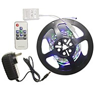 5M 300x2835LED Strip Light Sets No Waterproof RGB 11 key controller AU / EU / US / UK Power Plug  DC12V 2A
