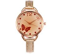 Women's Fashion Watch Wrist watch Unique Creative Watch Chinese Quartz PU Band Charm Casual Black White Blue Red Brown Gold Pink