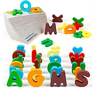 Children's Alphabet Matching Wooden Jigsaw Puzzle Early Childhood Ccognitive Card Ttoy JJ7701-0532