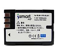 ismartdigi blm1 7.4v 1650mah для аккумулятора olympus ps-blm1 c5060 c-8080 c7070 e520 e500