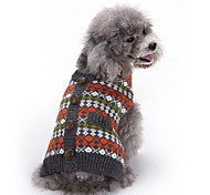 Cat Dog Coat Sweater Dog Clothes Party Casual/Daily Cosplay Keep Warm Wedding Christmas New Year's Plaid/Check Red